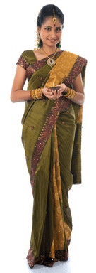 Woman with diya
