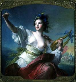 Terpsichore, Muse of Dance by Jean-Marc Nattier (1739).