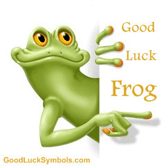 good luck frog - the frog as a lucky symbol