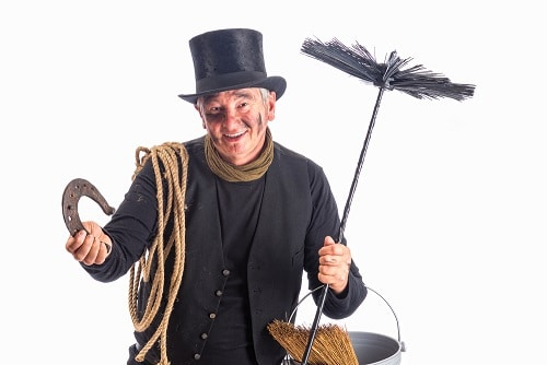Chimney sweep for good fortune