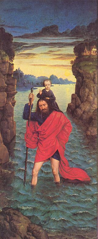 Saint Christopher by Bouts 1420-1475