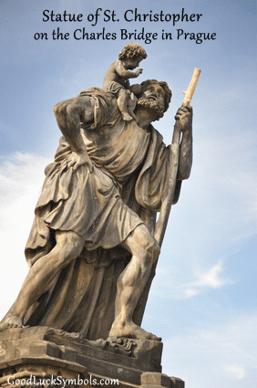Saint Christopher statue