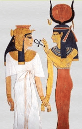 Nefertari receiving ankh