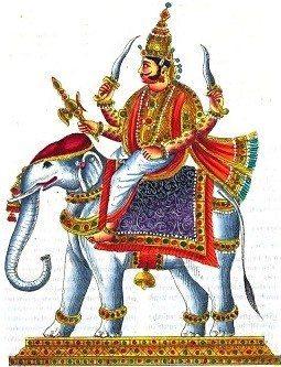 Indra on Airavata