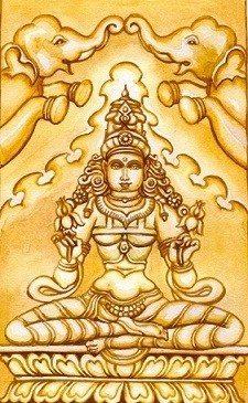 Lakshmi and elephants