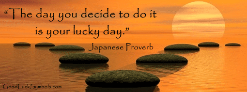 Lucky day proverb