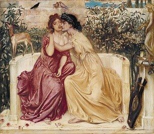 Sappho and Erinna by Simeon Solomon