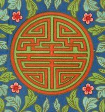 Shou pattern Chinese plate