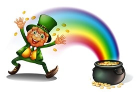 leprechaun rainbow treasure