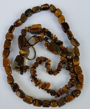 on gemstone eye yellow tigers s natural loose beads products strand tiger a round