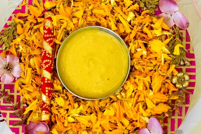 Haldi turmeric wedding custom in India
