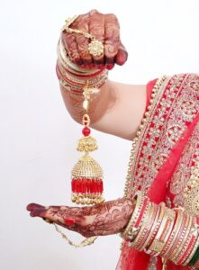 Indian bride jewelery Kaleerein