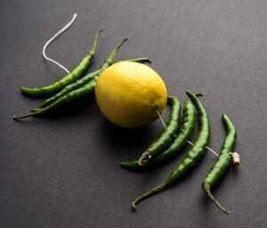 Lemon Chilies hanging India superstitions