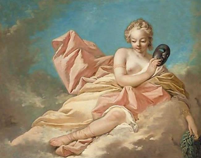 Muse Melpomene by Nicolas-René Jollain