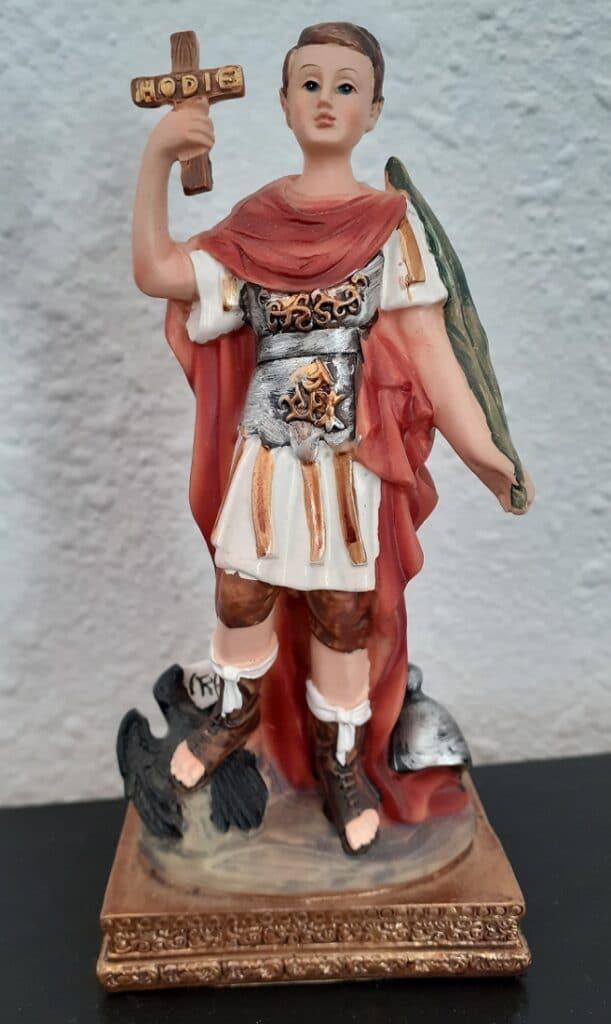 Saint Expedite statue in private home
